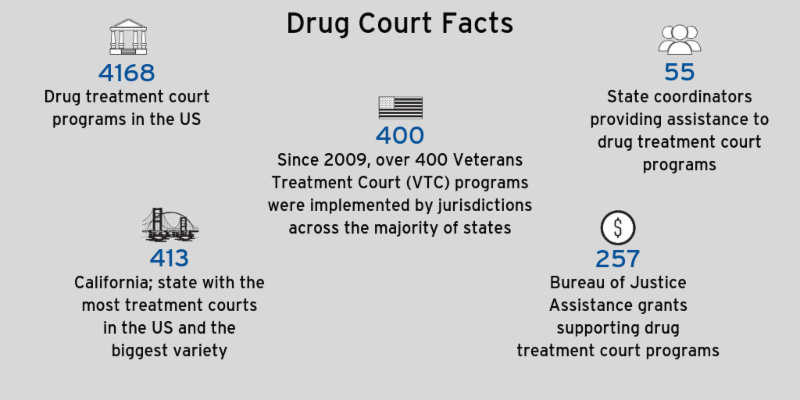 Graphic of drug court facts