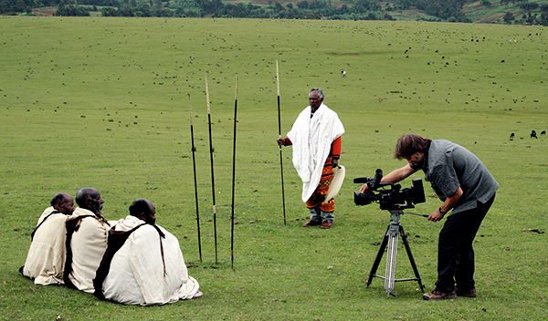 McLeod filming in Ethiopia