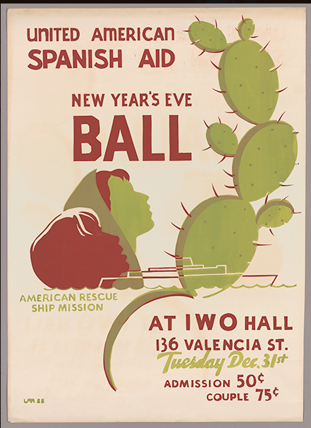 Poster for Spanish Aid Ball