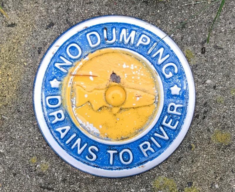 storm drain label
