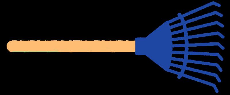 dark blue rake
