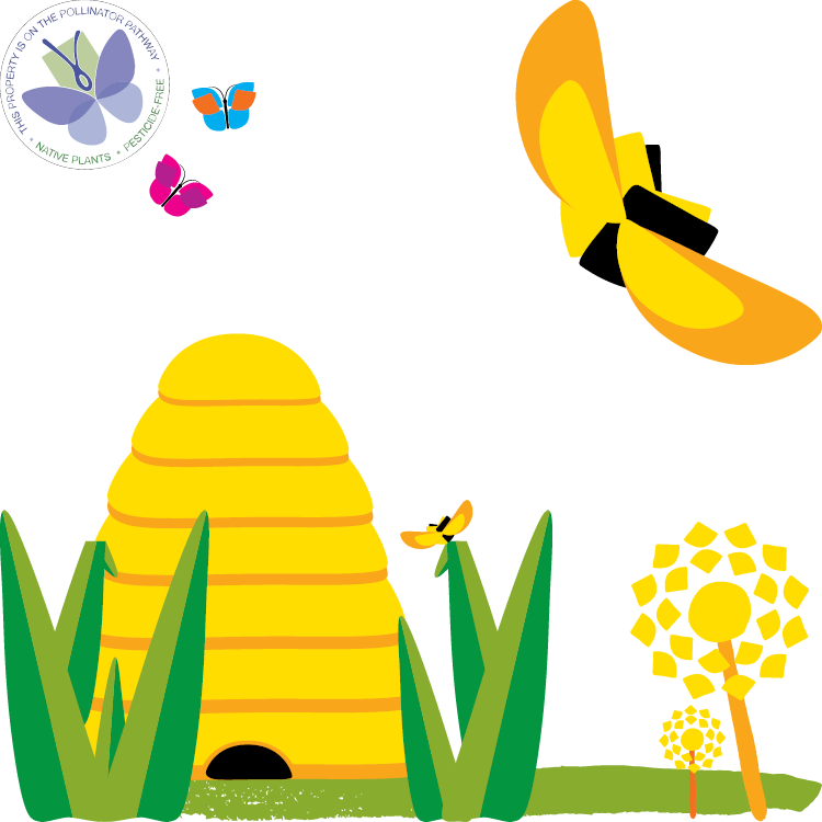 NC Library Pollinator graphic