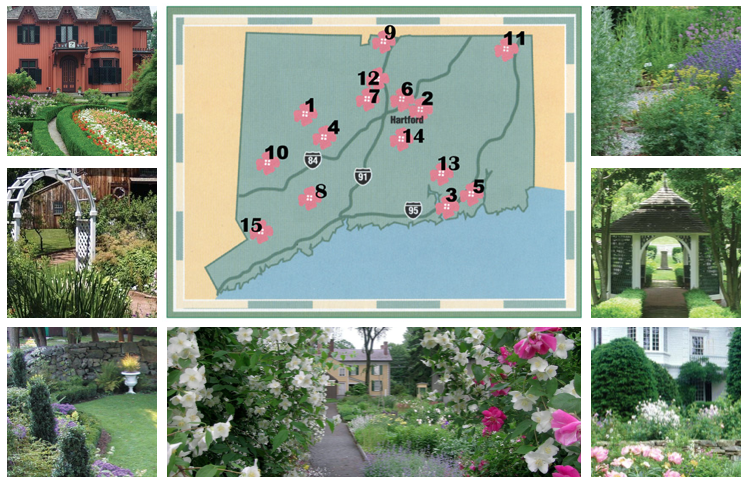 CT Historic Garden Map