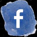 Facebook watercolor icon