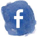 Facebook watercolor icon
