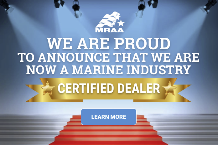 We are proud to announce that we are now a marine industry certified dealer