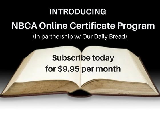 Introducing NBCA Online Certificate Program