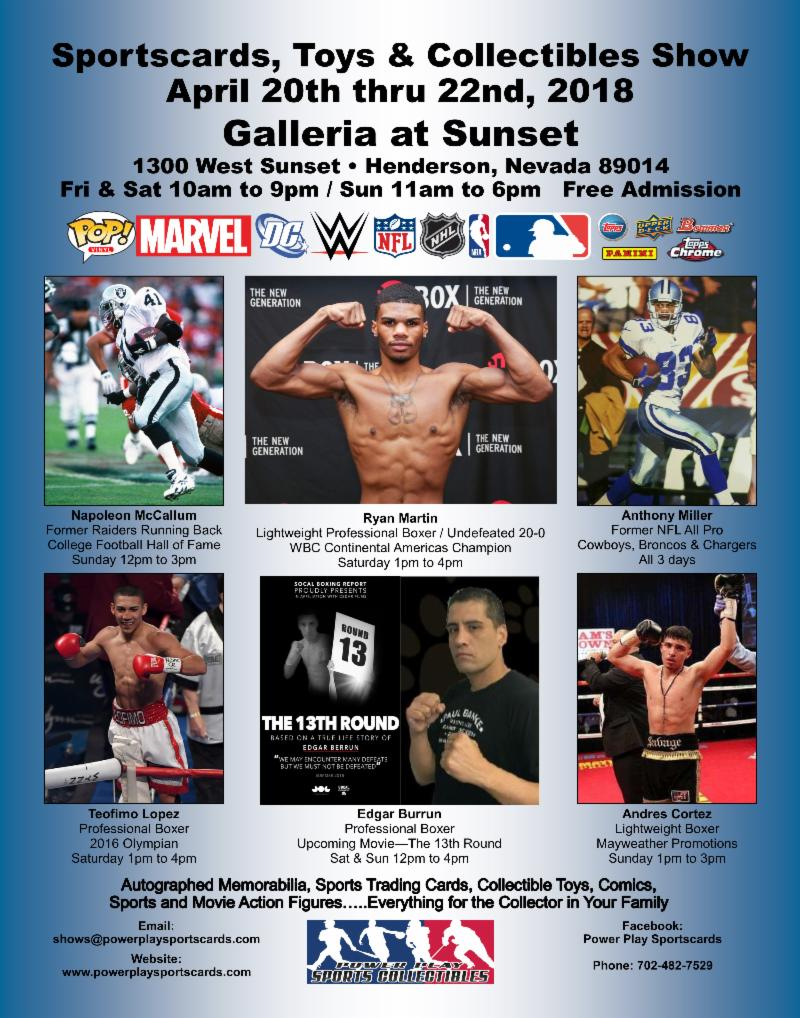 Sportscards, Toys & Collectibles Show - Galleria Mall April