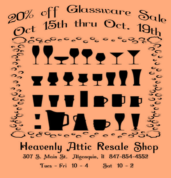 Sale Flyer for Heavenly Attic