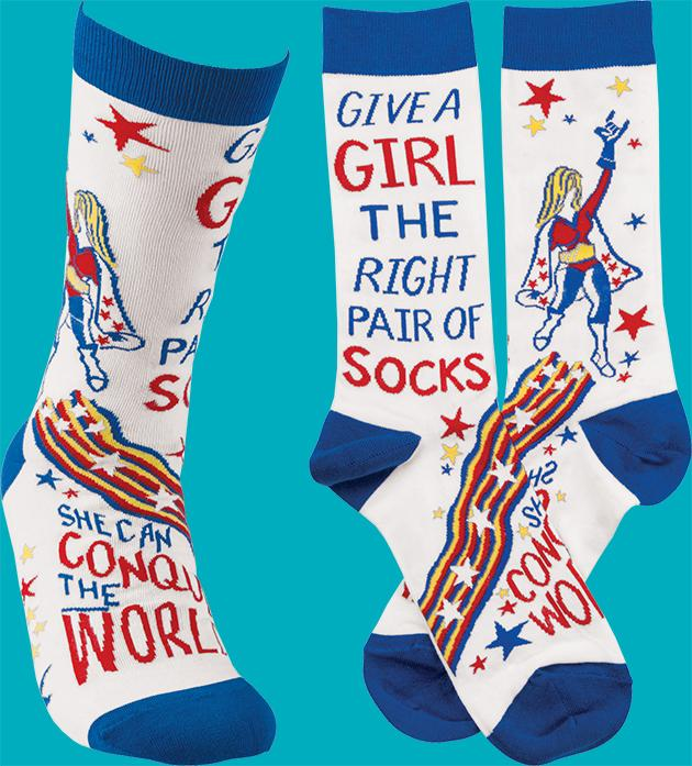 Give a girl the right pair of socks