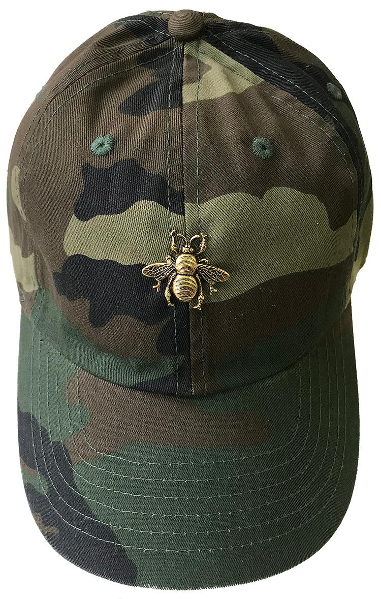 Camo Hat with Bee