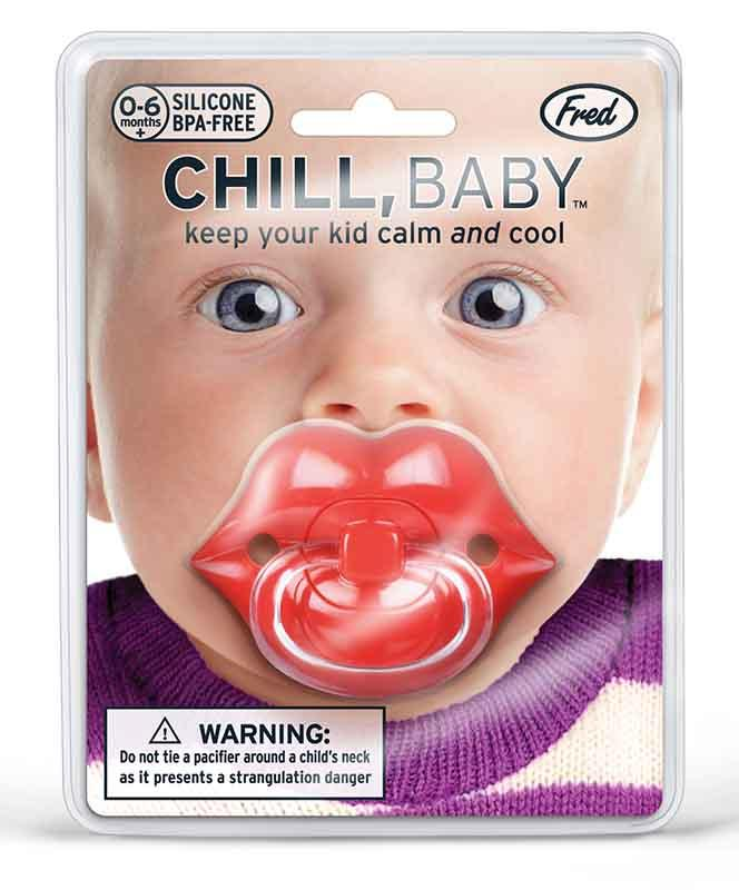 Chill Baby Red Lips Pacifier