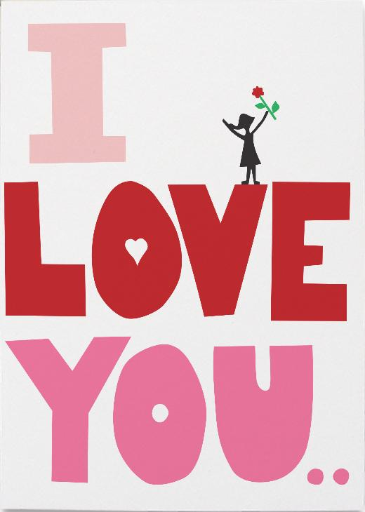 Greeting Card - I love you this much