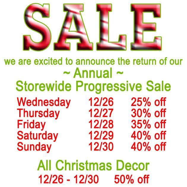 Storewide Progressive Sale