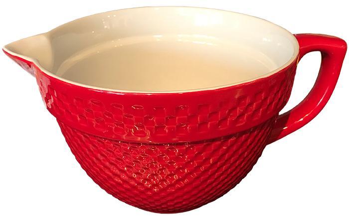 Red Gingham Batter Bowl