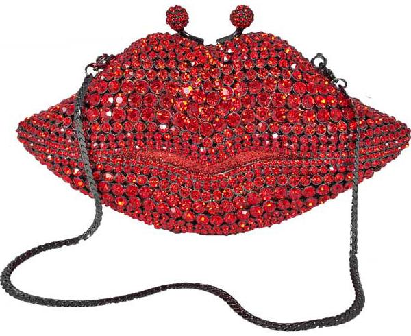 Jeweled Lips Evening Bag