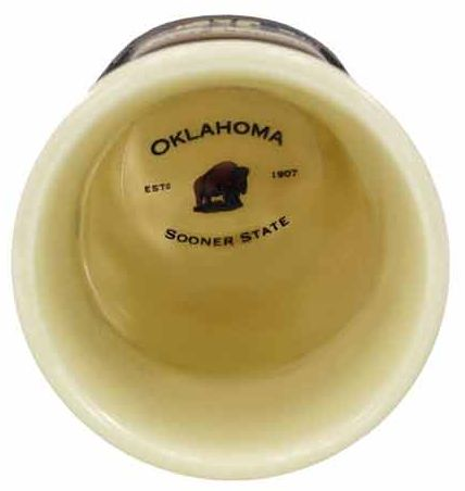 Oklahoma Emblem Shot Glass