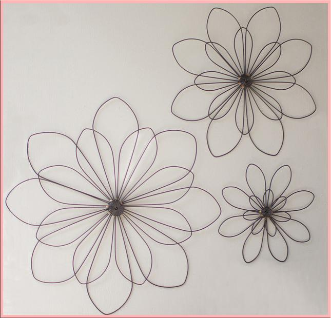 Wire Flower Wallhangings