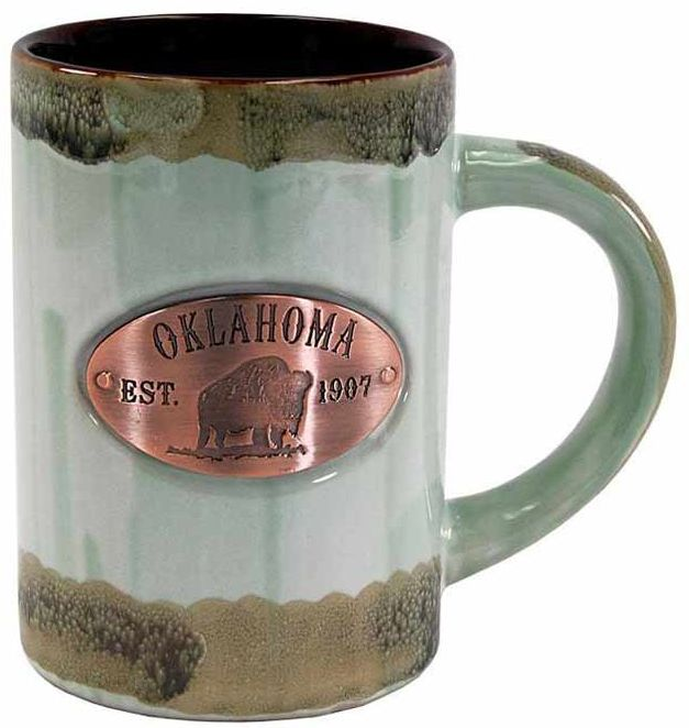 Oklahoma Copper Medallion Mug