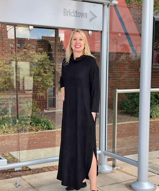 Black Cowl Neck Maxi Dress
