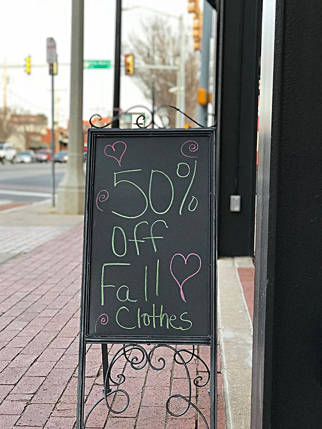 Fall Clothing Sale