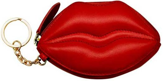 Red Lips Coin Purse