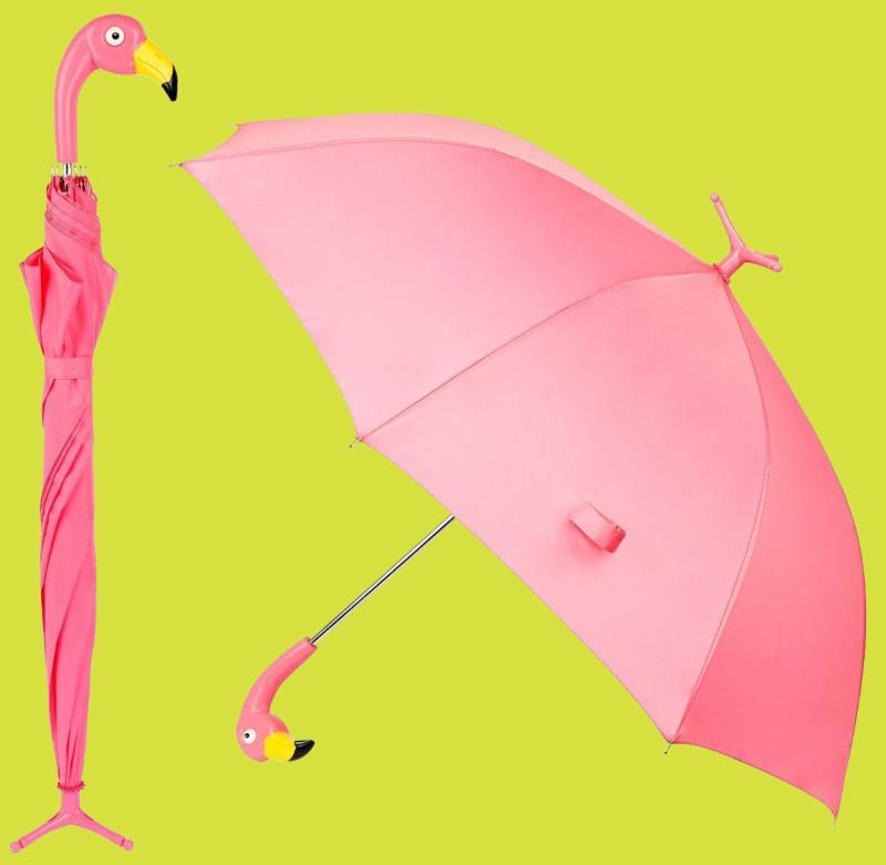 Flamingo Umbrella with Stand
