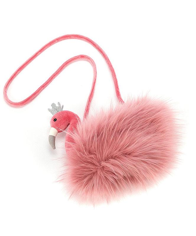 Fluffy Fancy Flamingo Bag