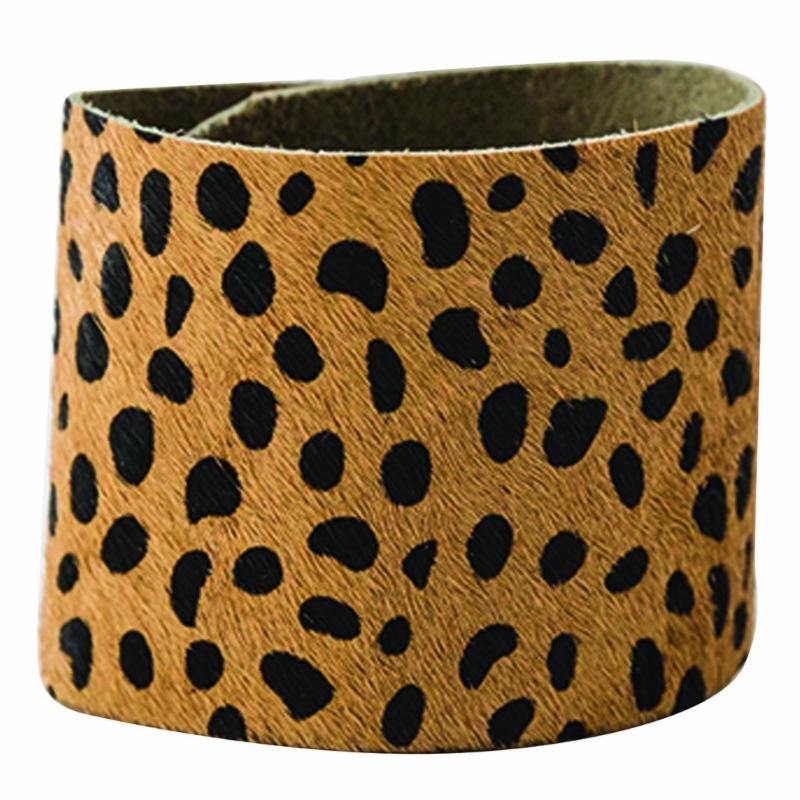 Leopard Snap Cuff
