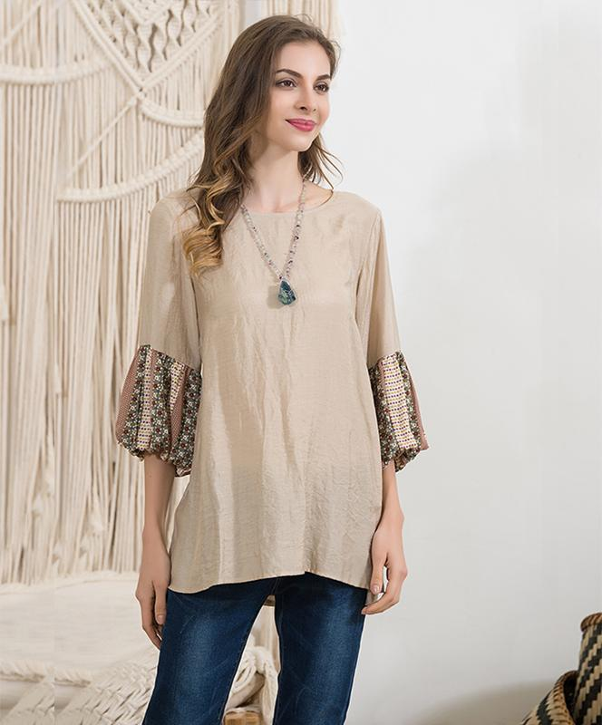 Puff Sleeve Accent Top