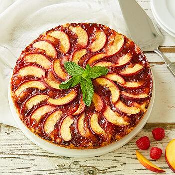 Raspberry Peach Torte