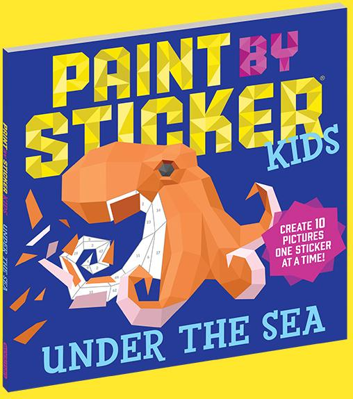 Book - Paint by Sticker Kids - Under the Sea
