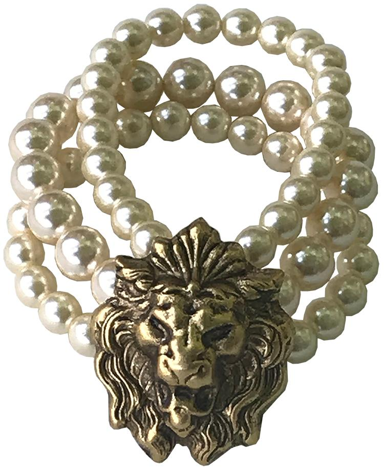 Lion Pearl Bracelet
