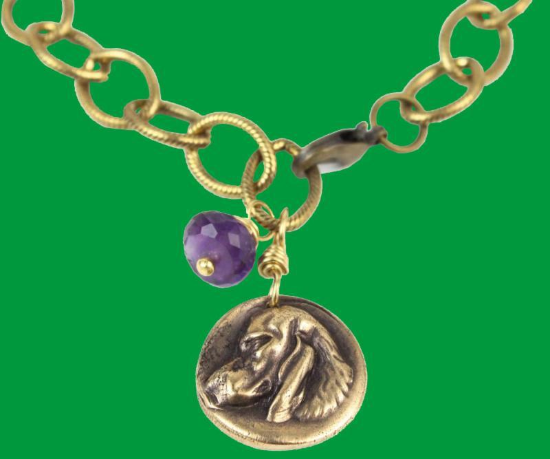 Bronze Dog Token Bracelet