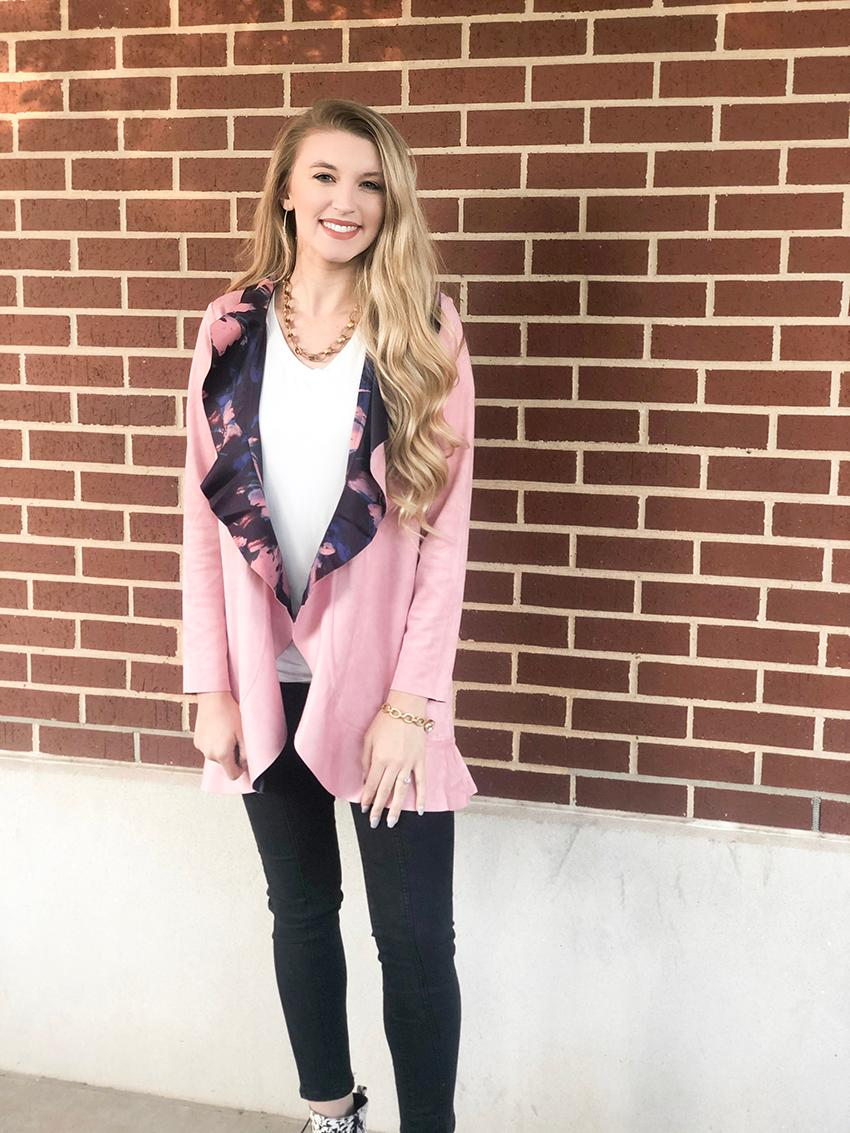 Pink and Floral Reversible Jacket