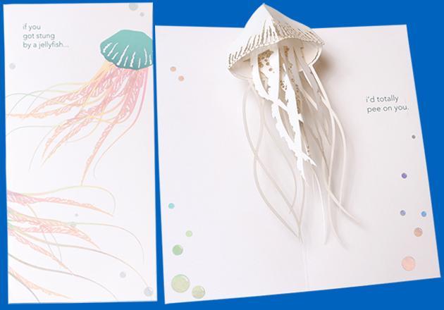 Jellyfish Pop Up Card