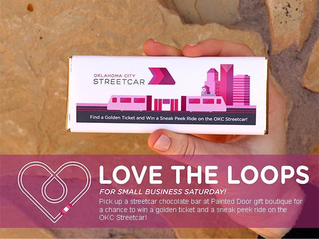 OKC Streetcar Chocolate Bar Golden Ticket