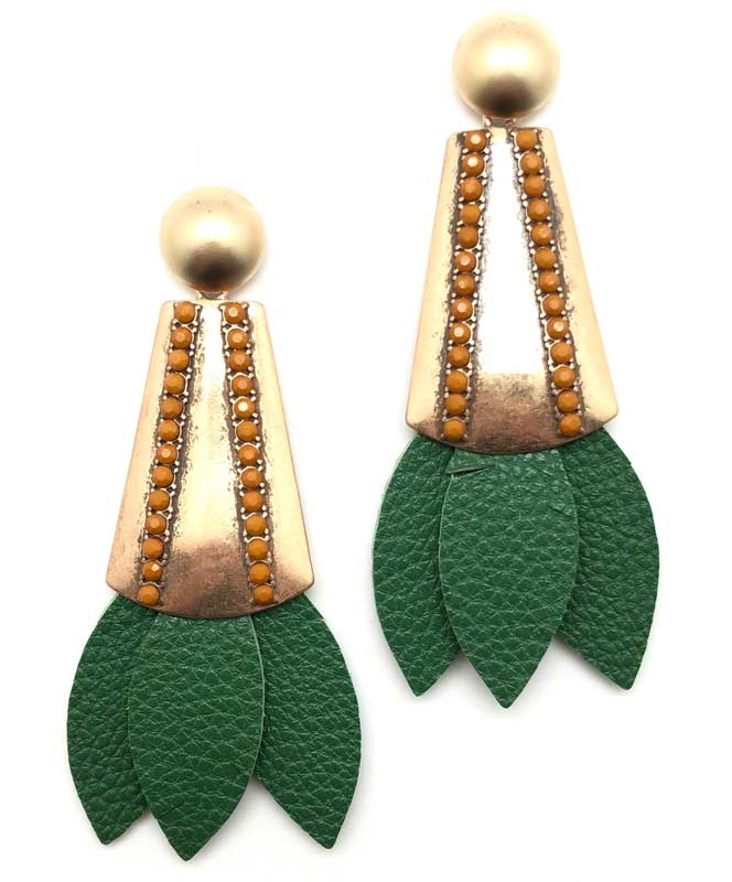 Tinsley Leather Earrings