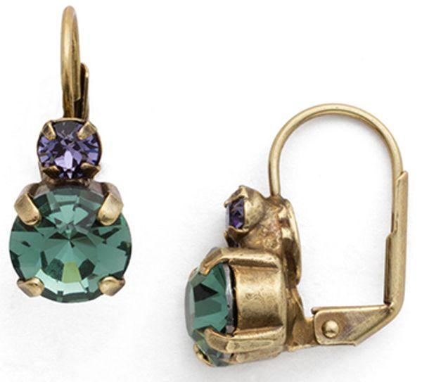Sorrelli - Jewel Tone Crystal French Wine Earrings