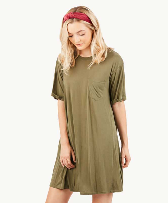 T Shirt Dress - Olive