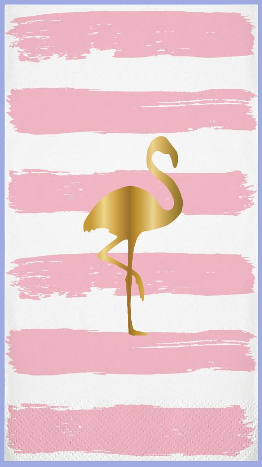 Flamingo Paper Guest Towel