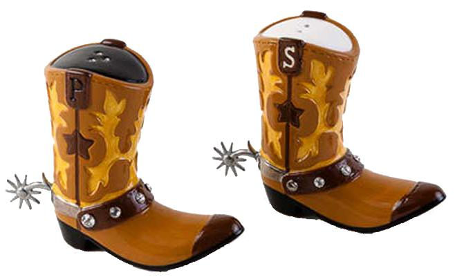 Cowboy Boot Salt & Pepper Shakers