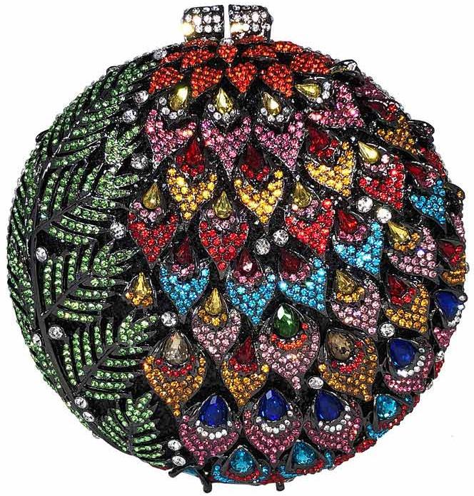 Peacock Floral Blingy Handbag