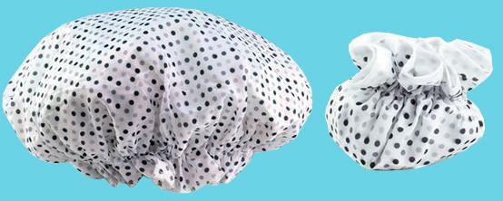 Dots shower cap