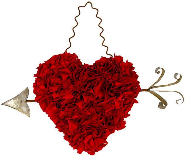 Fabric Heart with Arrow