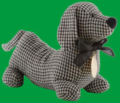 Tweed black check hot dog