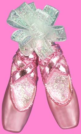 Old World Pair of Ballet Slippers