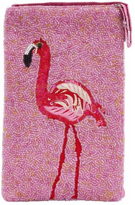 Beaded Flamingo Crossbody