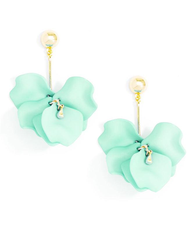 Mint Petals Earrings