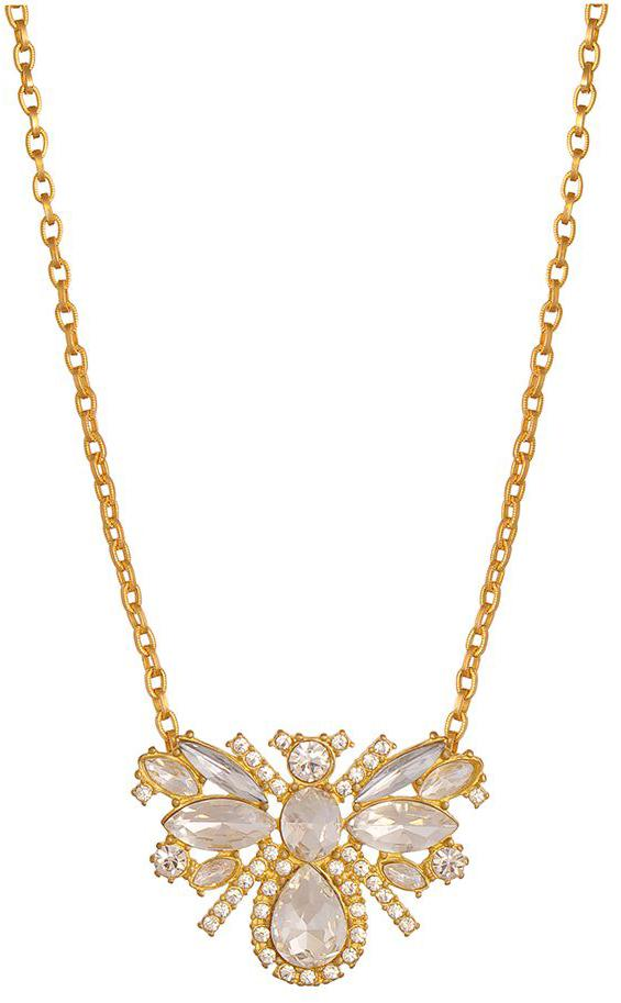 Queen Bee Necklace with Gold Chail